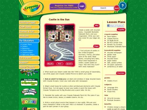 Castle In The Sun Lesson Plan For 4th