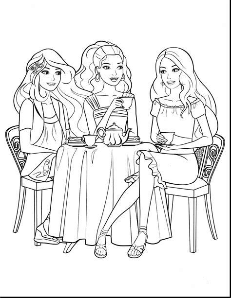 Barbie Mermaid Coloring Pages Coloringsuitecom