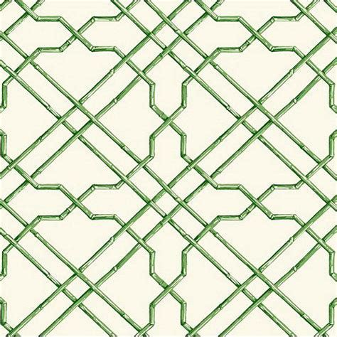 Green And White Trellis Wallpaper