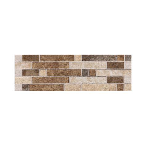 lowes kitchen backsplashes shop olean belmar universal ceramic listello tile