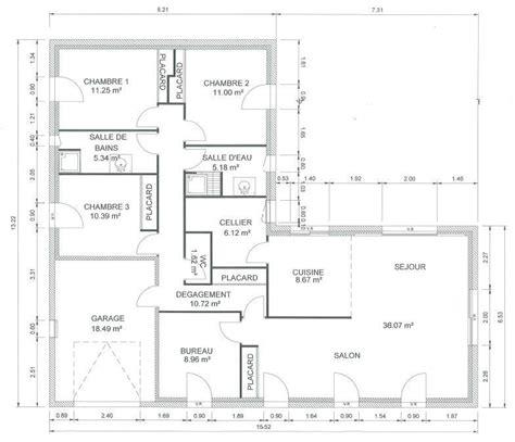 plan maison 120m2 4 chambres plan maison plain pied 120m2 28 images plan maison