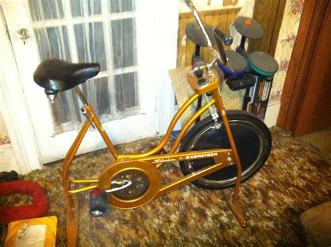 Vintage Schwinn Orange Exerciser Fitness Bike Stationary Exercise Bicycle 1974 Antique Truck Club Of America Upper Canada Chapter Clock Parts Auto Battery Youngstown Oh 44502 North Carolina Tractor Shows Small Buffet Table Doll Repair Indiana Florida License Plate Benefits Ceiling Light Fixture