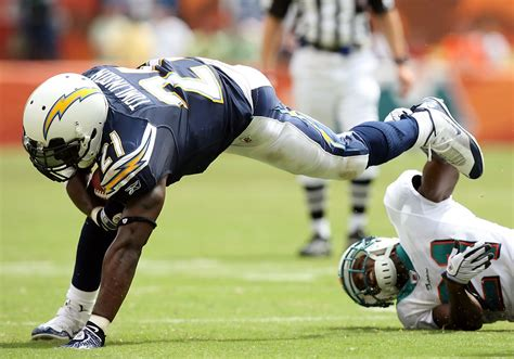 Ladainian Tomlinson In San Diego Chargers V Miami Dolphins