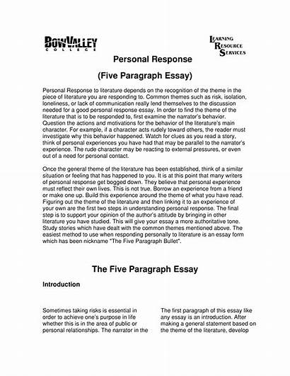 Response Personal Essay Sample Template Allbusinesstemplates Afkomstig