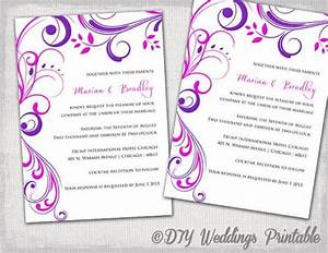 wedding invitation templates purple and pink quotscroll With digital wedding invitation templates free download