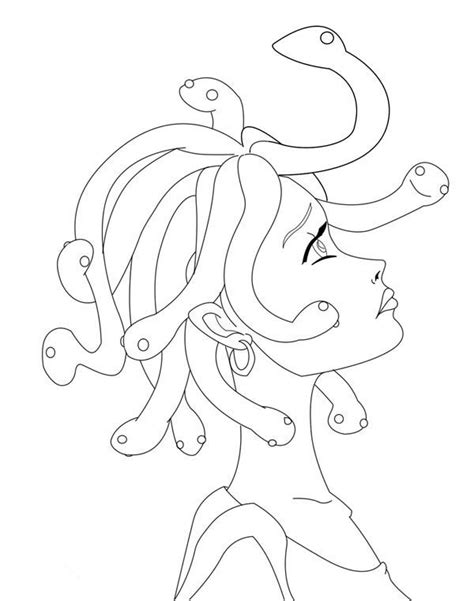 medusa coloring pages drawing medusa coloring page netart