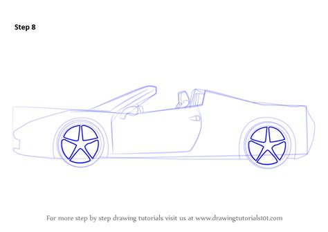 Step By Step How To Draw A Ferrari