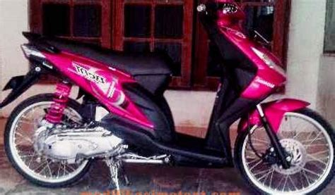 Modifikasi Rr Warna Merah by Modifikasi Motor Beat Karbu Warna Merah 2 Modifikasimotorz