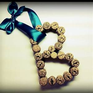 17 best images about letter quotbquot on pinterest champagne With letters made out of wine corks