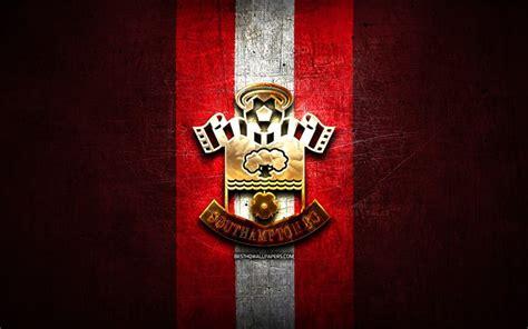 Download wallpapers Southampton FC, golden logo, Premier ...