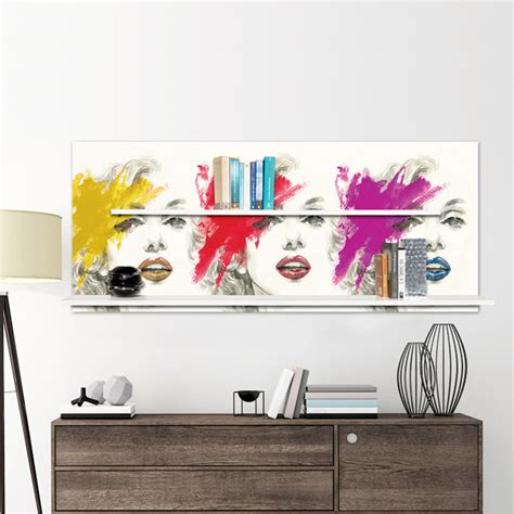 mensole ondulate biblioth 232 que murale moderne marilyn avec 2 233 tag 232 res ashely