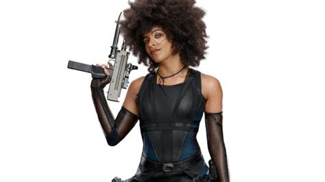 actress playing domino in deadpool 2 deadpool 2 posters with cable and domino comingsoon net