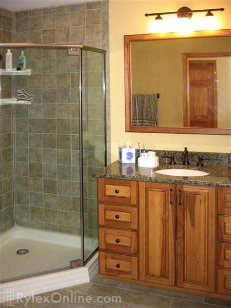 hickory wood bathroom vanity solid wood cabinet orange