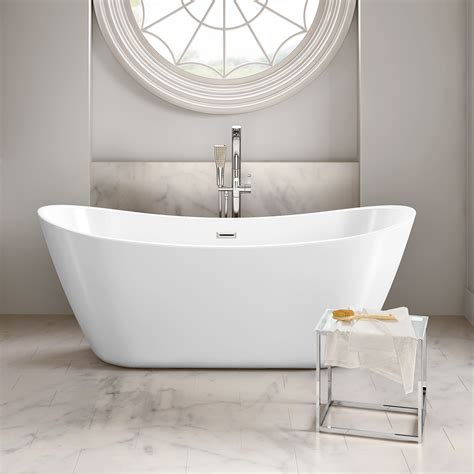 Design Your Bathroom Free by Contemporary Freestanding Ended Slipper Bath Tub