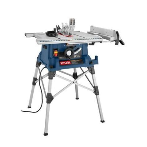 portable table saw stand ryobi 10 in portable table saw with stand rts21 the