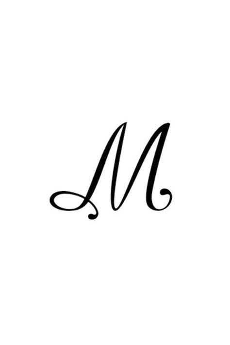 Pochoir Lettre M  Tattoo Diffusion