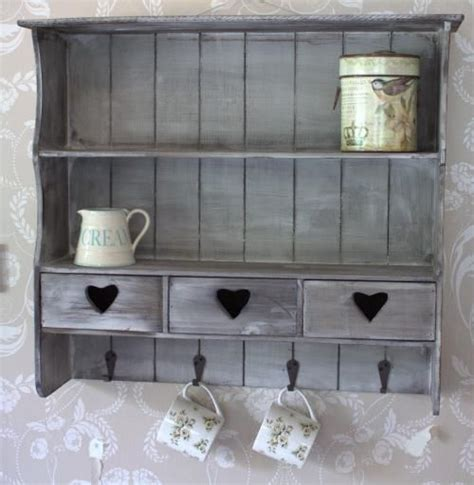shabby chic shelves for kitchen grey wall shelf with drawers melody maison 174