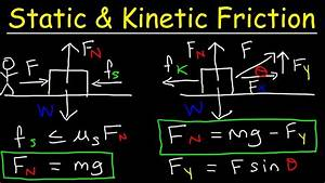 Kinetic Friction And Static Friction Physics Problems