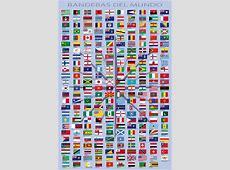 Drapeaux Du Monde Noms Des Pays Et Capitales, En