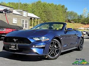 2018 Kona Blue Ford Mustang EcoBoost Convertible #134623065 Photo #2 | GTCarLot.com - Car Color ...