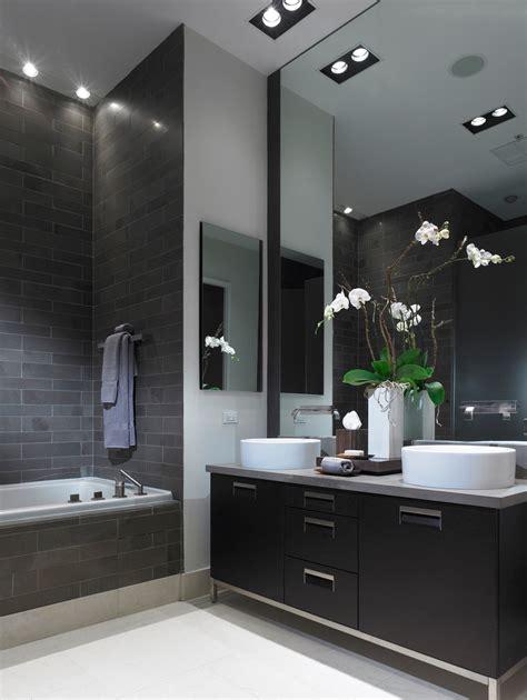 Badezimmer Modern Schwarz by Black Bathroom Vanity Bathroom Mediterranean With Bath