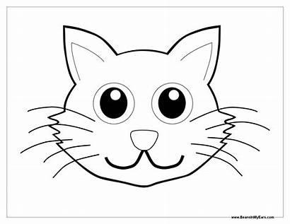 Coloring Face Cat Animal Faces Colorear Head