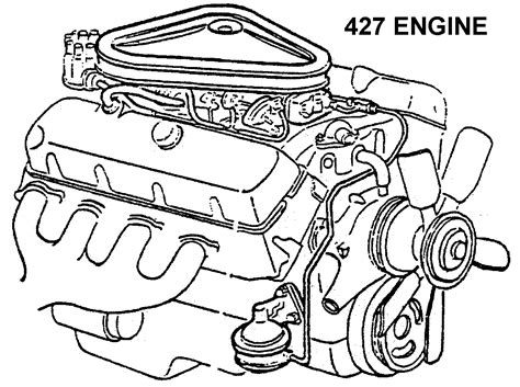Simple Engine Block Diagram by 427 Engine Diagram View Chicago Corvette Supply