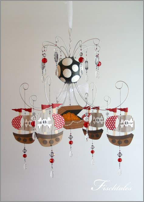 chandelier for boys room pirate ship chandelier mobile baby mobile by fischtaledesigns