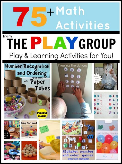 toddler approved 75 math activities from the play 335 | 75 Math PLAY Group Collage