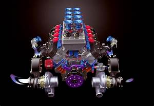 Twin Turbo Lsx Rendered In Keyshot