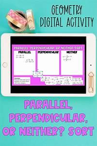 Slope Of Parallel  U0026 Perpendicular Lines Digital Sort In