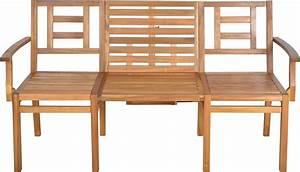 Chaise Table Jardin : banc de jardin convertible en table chaises en bois ~ Teatrodelosmanantiales.com Idées de Décoration