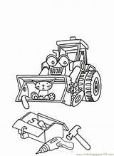 Builder Bob Scoop Coloring Printable Muck Cartoon Cartoons Coloringpages101 Colouring Pdf Coloringhome sketch template