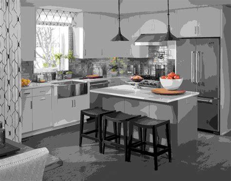 meuble cuisine gris anthracite cuisine avec îlot central moderne au quotidien
