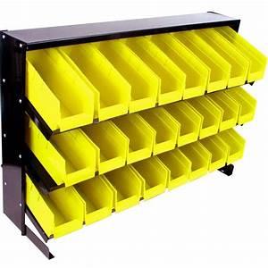 Stalwart 24 Bin Parts Storage Rack Trays-75-24BIN - The