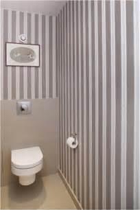 papier peint wc rayures taupe blanc farrow ball