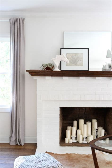 white brick fireplace simple styling home fireplace