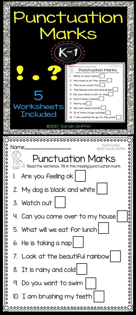 punctuation marks worksheets student teaching reading