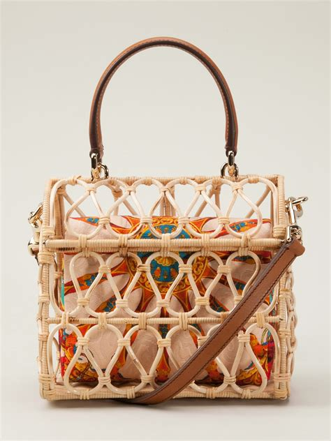 dolce gabbana bird cage bag lyst