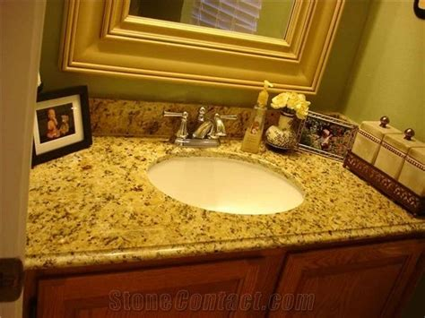 Yellow Bathroom Vanity Tops new venetian gold granite bathroom countertop yellow