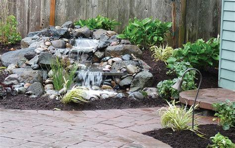 hardscapes  patios add  pond beauty pond trade magazine