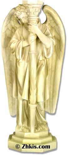 angel candle holder left