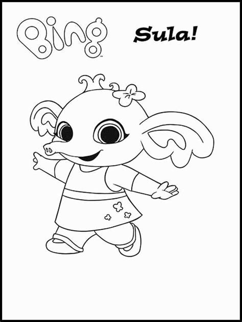 Bing Cbeebies Free Colouring Pages