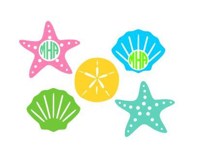 This listing is for a digital download that contains a zipped folder that includes a svg for cricut, dxf for silhouette, png for clip art, jpg for printables, and a eps file. Seashell Starfish and Sand Dollar SVG Studio3 by ...