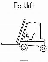 Forklift Coloring Truck Worksheet Cement Mixer Drawing Tow Template Trucks Outline Twistynoodle Noodle Twisty Concrete Printable Sketch Popular Getcolorings Built sketch template