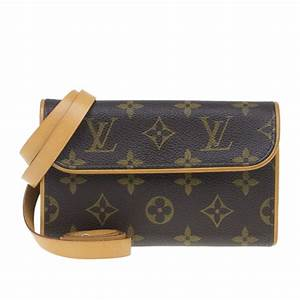 Buy Louis Vuitton Brown Monogram Canvas Florentine ...