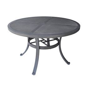 allen roth newstead gray textured patio dining table