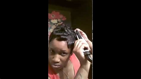 Soft finger wave hairstyle tutorial simple n easy   YouTube