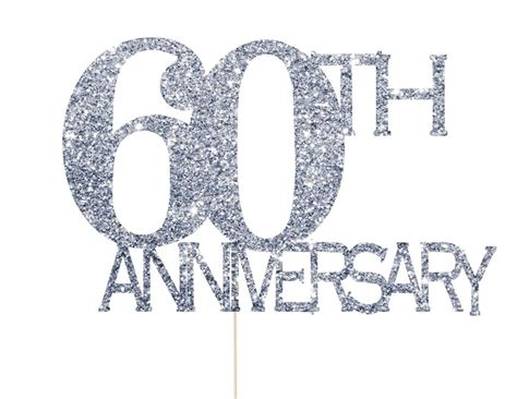 60th wedding anniversary color 60th anniversary cake topper 60th anniversary decorations