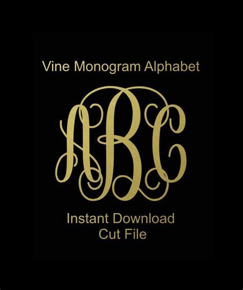 interlocking vine monogram svg vine monogram font svg monogram font cricut cut files